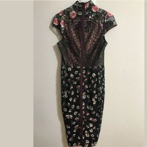 3d55a92c73ed Anthropologie Dresses - Anthropologie Byron Lars Alpine Rose Dress w/ Belt